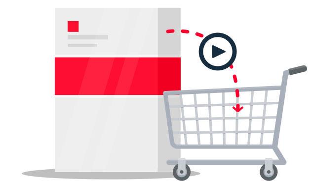 Ein Produktvideo fördert Verkäufe am POS