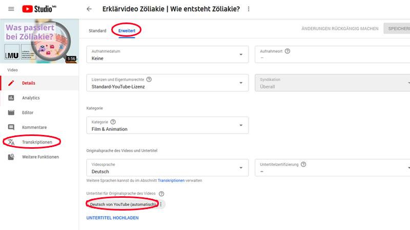 Untertitel in Youtube bearbeiten